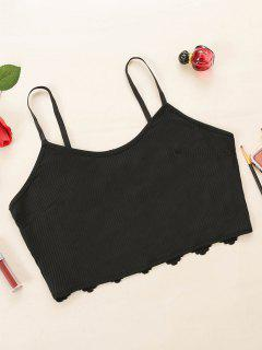 Plus Size Lace Back Ribbed Camisole - Black 2xl