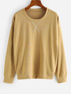 Sweat-shirt Pull-over à Goutte Epaule - Café Xl