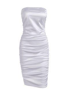 Vestido De Clube Do Bodycon - Branco M