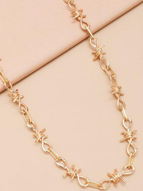 shops Hollow Knot Shape Trousers Chain - GOLDEN  Mobile