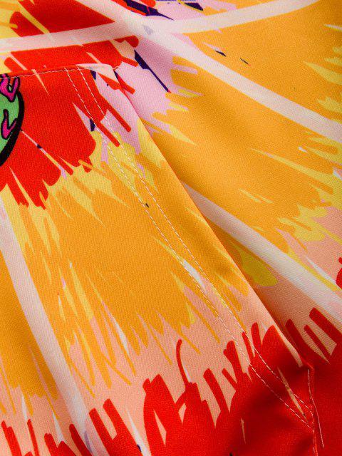 Casaco Encapuzado com Estampa de UFO - Amarelo do Sol M Mobile