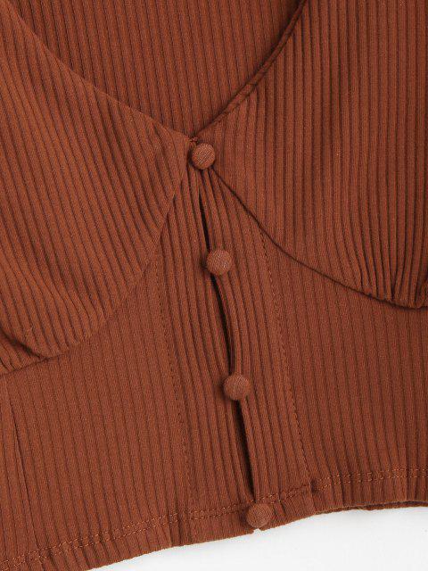 T-shirt Court Côtelé de Bébé - Chocolat M Mobile