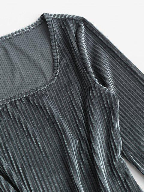 Samthülle Minikleid - Dunkelgrau M Mobile