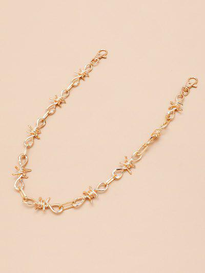 Hollow Knot Shape Trousers Chain - Golden
