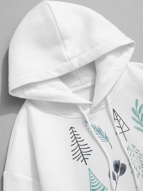 Sudadera con Capucha Lana Estampado Árbol de Navidad Hojas - Blanco 2XL Mobile