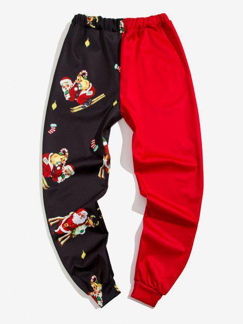 Navidad Santa Claus Imprimir Contraste Pantalones Cortos - Rojo L Mobile