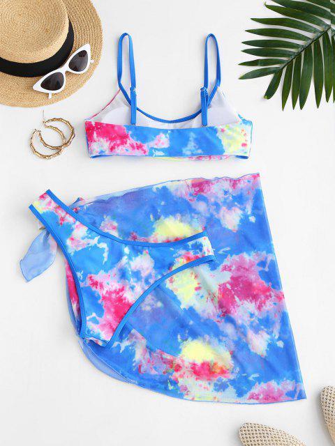 ZAFUL Ensemble de Bikini Teinté avec Jupe - Bleu L Mobile