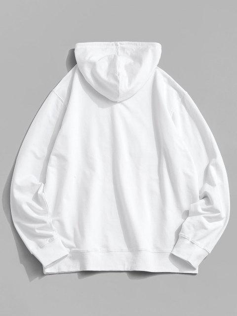 Weihnachtsschalen Druck Känguru Taschen Hoodie - Weiß XL Mobile