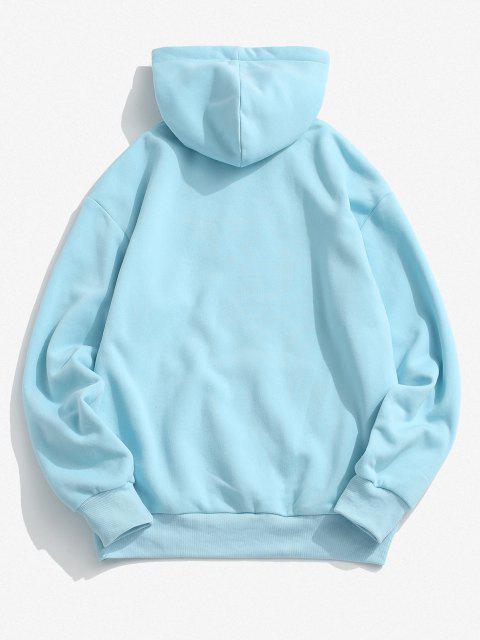 Moletom de Lã com Bolso Canguru - Azul claro XL Mobile