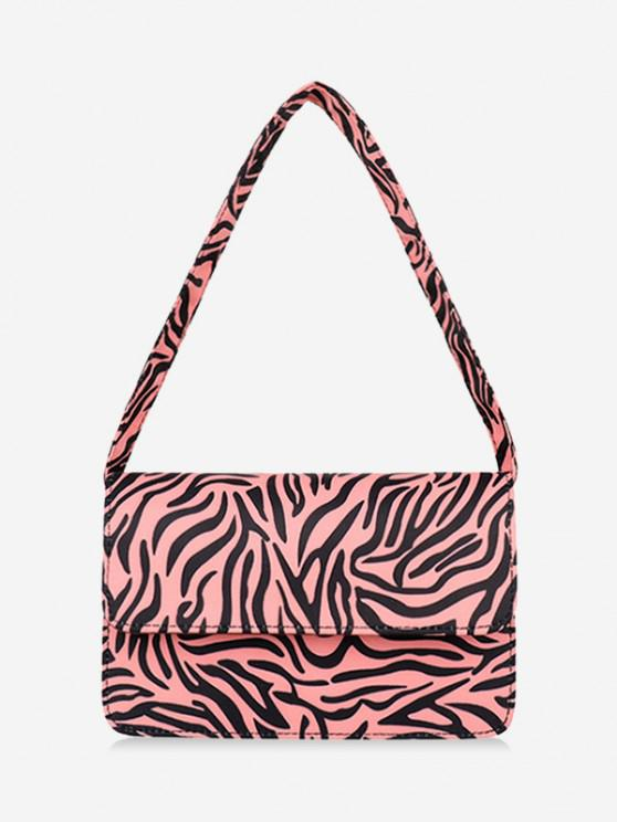 sale Animal Striped Pattern Shoulder Bag - PIG PINK