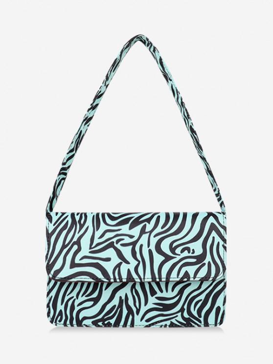 buy Animal Striped Pattern Shoulder Bag - DAY SKY BLUE