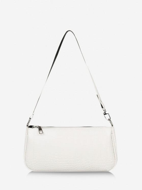 women Brief Textured Shoulder Bag - MILK WHITE
