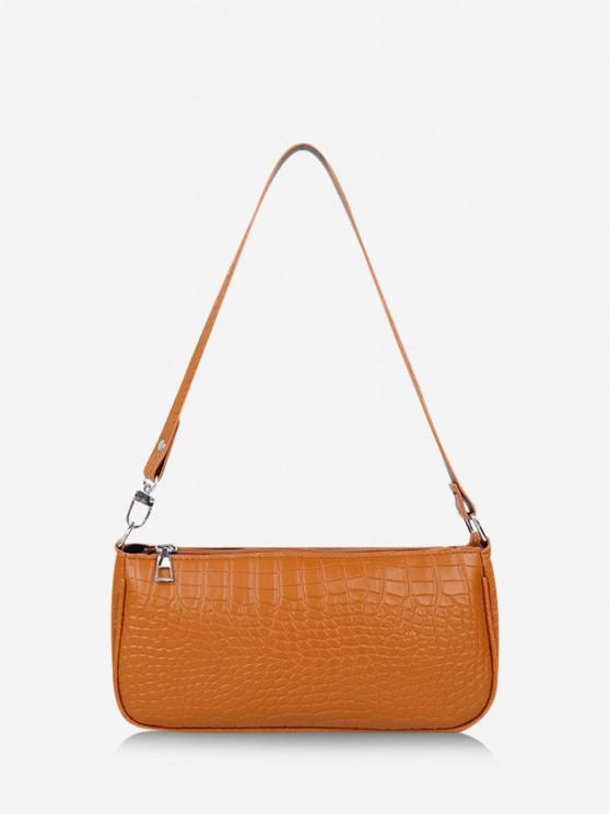 women's Brief Textured Shoulder Bag - LIGHT BROWN