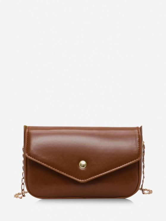 outfits Retro Envelope Chain Crossbody Bag - BROWN