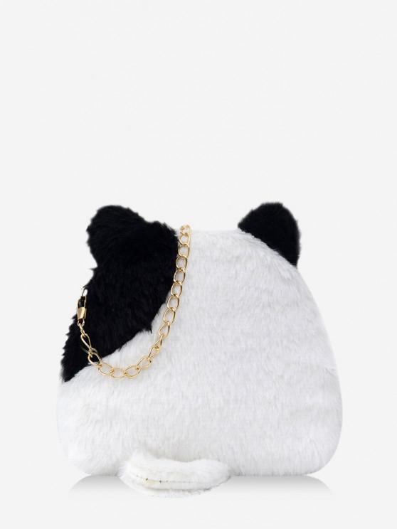trendy Animal Shape Fleece Crossbody Bag - BLACK