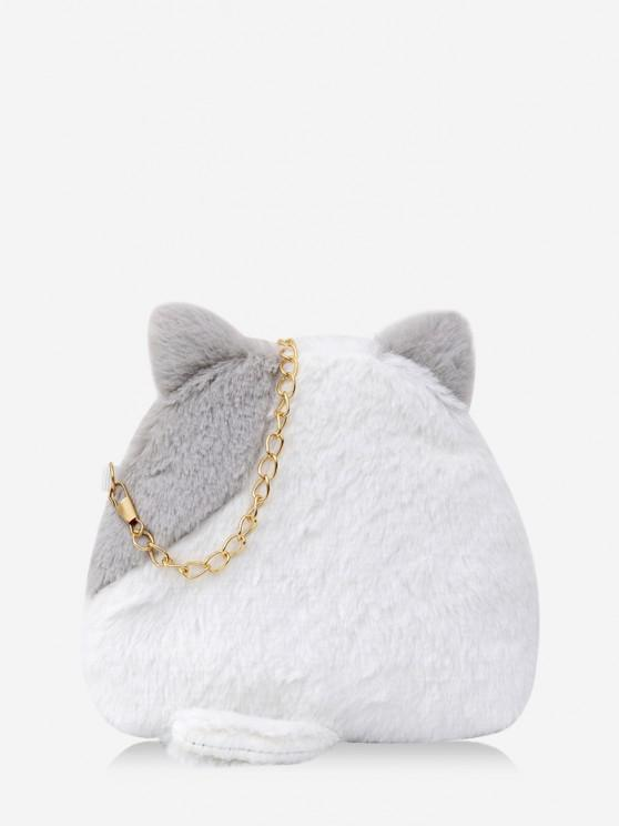 fashion Animal Shape Fleece Crossbody Bag - BATTLESHIP GRAY