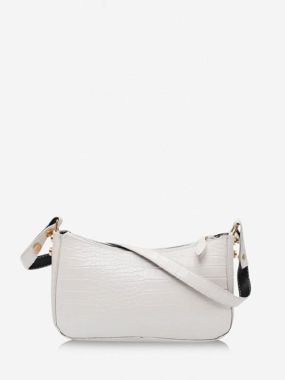 women's French Style Solid Shoulder Bag - MILK WHITE