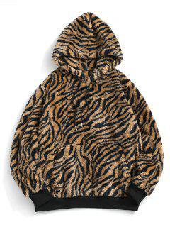 ZAFUL Sweat à Capuche Fourré Motif De Peau De Tigre - Multi 2xl