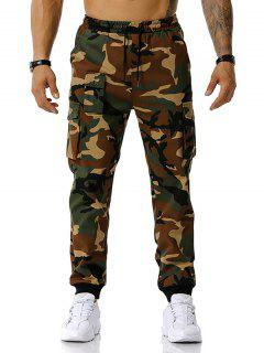 Camouflage Print Jogger Cargo Pants - Army Green M