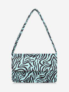 Animal Striped Pattern Shoulder Bag - Day Sky Blue