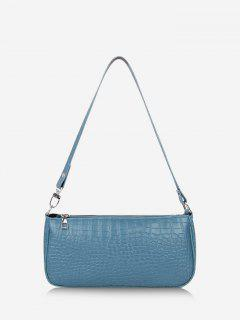 Brief Textured Shoulder Bag - Marble Blue