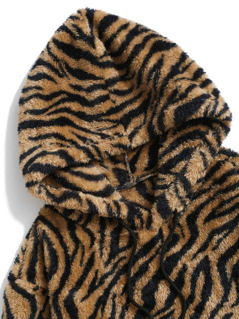 ZAFUL Tiger Muster Flauschiges Hoodie - Multi S Mobile