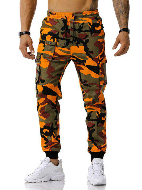 Camouflagedruck Jogger Cargo Hose - Orange XXL Mobile