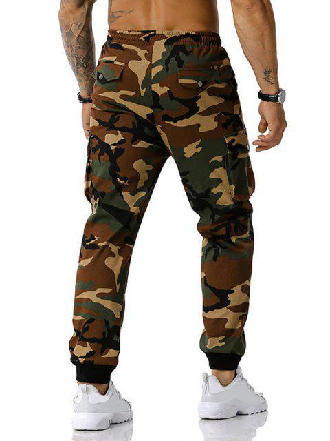 Jogger Pantalones de Estampado de Camuflaje de Cordón - Ejercito Verde XXXL Mobile