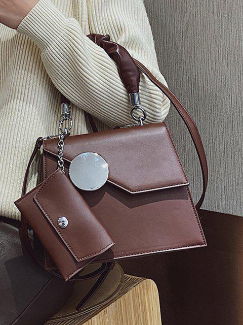 best Coin Bag Pendant Geometric Pattern Handbag - COFFEE  Mobile