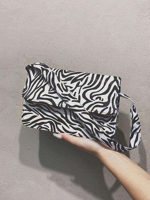 unique Animal Striped Pattern Shoulder Bag - MILK WHITE  Mobile