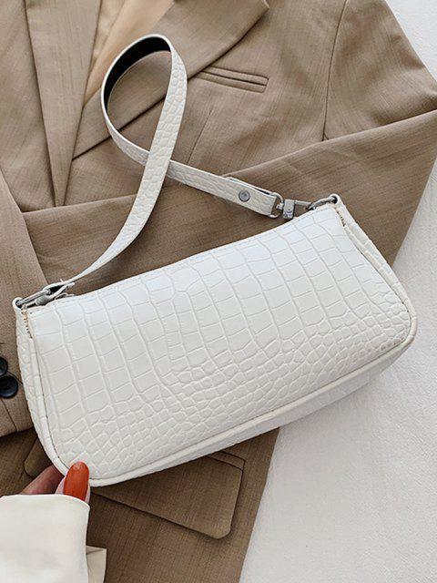 Sac à Bandoulière Simple Texturé - Blanc Lait  Mobile