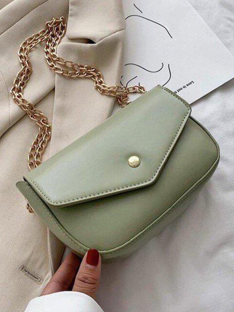 hot Retro Envelope Chain Crossbody Bag - SEA GREEN  Mobile