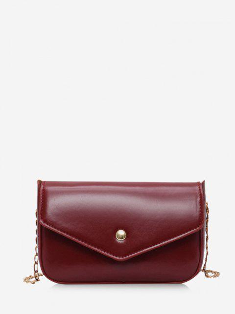 Retro Hülle Kette Crossbody Bag - Roter Wein  Mobile