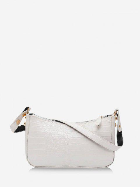 women's French Style Solid Shoulder Bag - MILK WHITE  Mobile
