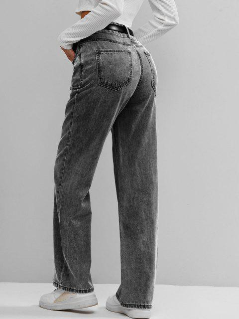 ZAFUL Jeans Palazzo Cintura Alta - Gris S Mobile