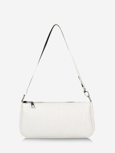 Brief Textured Shoulder Bag - Milk White