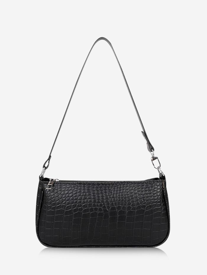 Brief Textured Shoulder Bag