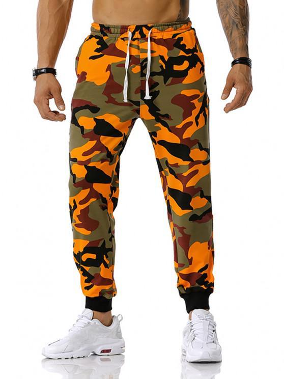 Camouflage Leisure Pants - البرتقالي S