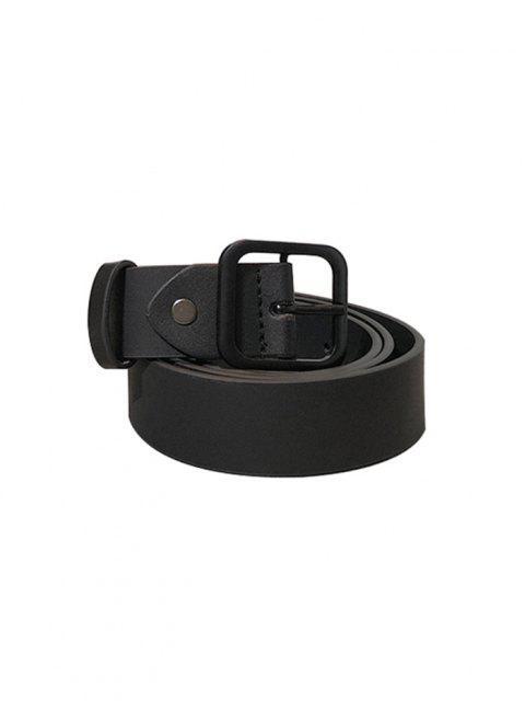 Jeans de Cinturón Hebilla Cuadrada - Negro  Mobile