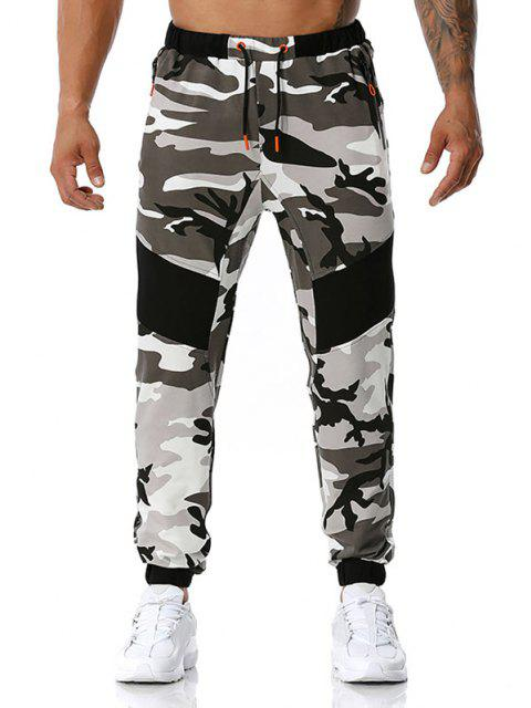 Pantalones Deportivos Diseño Camuflaje Militar - Gris S Mobile