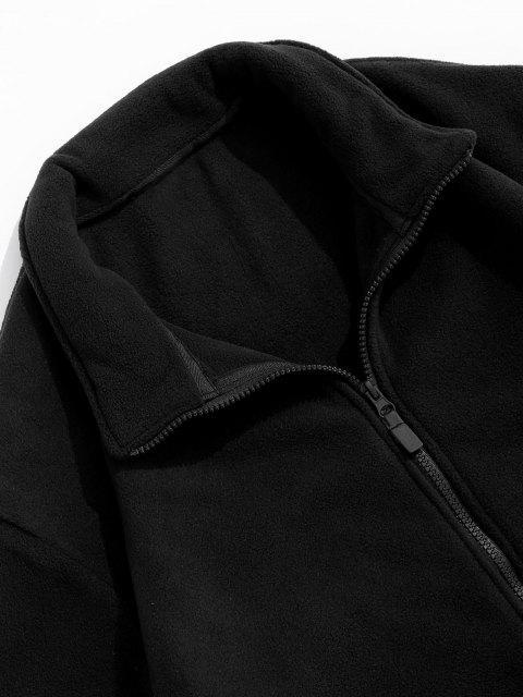Veste Polaire Zippée à Col Rabattu - Noir 3XL Mobile