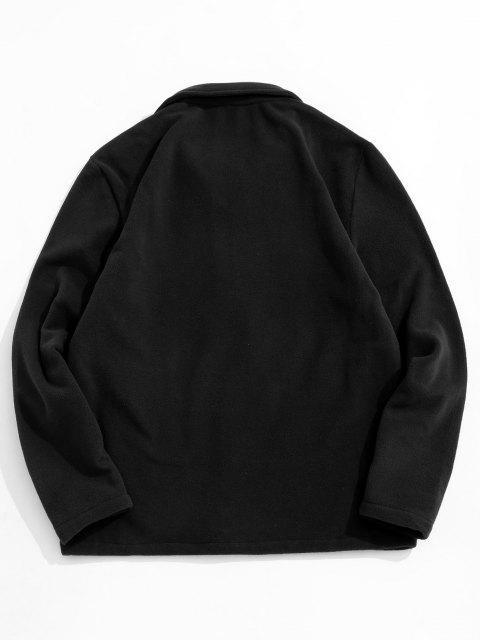 Veste Polaire Zippée à Col Rabattu - Noir XL Mobile