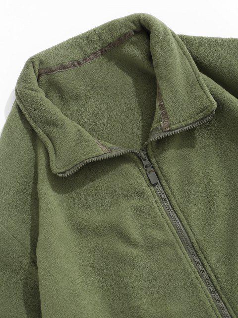 Veste Polaire Zippée à Col Rabattu - Vert Armée  M Mobile
