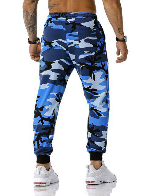 Pantalones Camuflados Casuales de Camuflaje - Azul XL Mobile