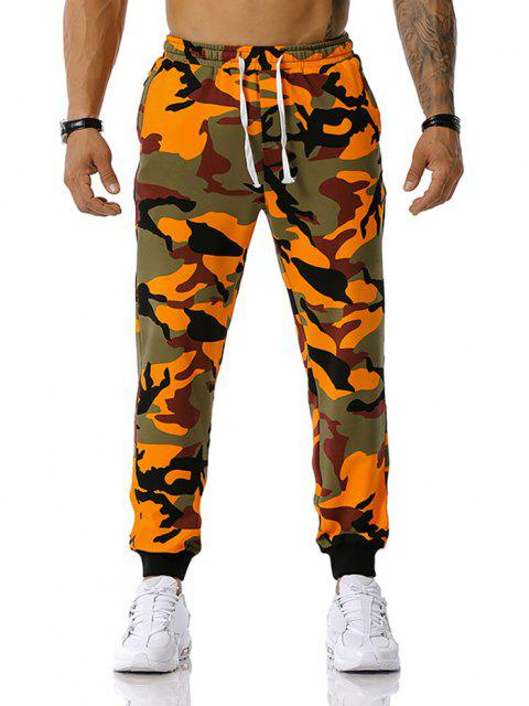 outfit Camouflage Leisure Pants - ORANGE S Mobile
