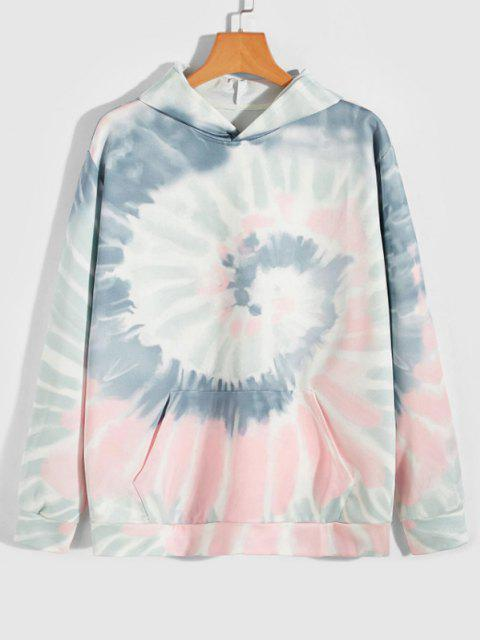 outfit Earth Come Together Tie Dye Spiral Print Hoodie - MULTI-A XL Mobile