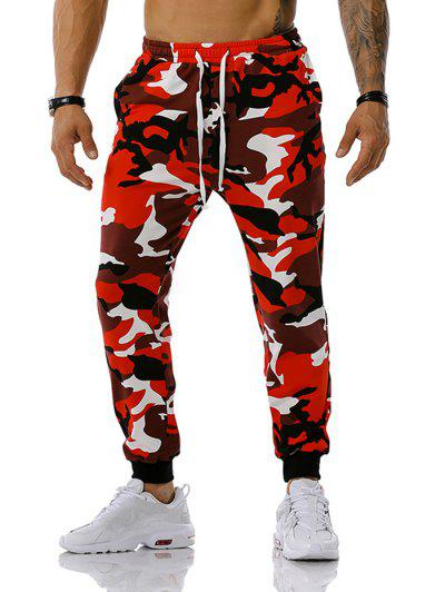 Camouflage Leisure Pants - Red M