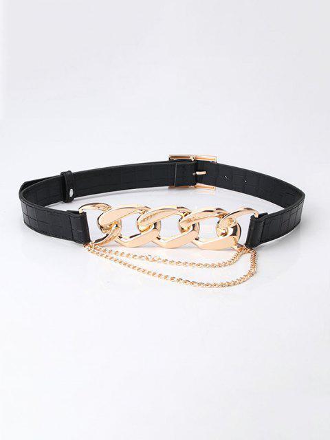 Cinturon de Hebilla con Cadena - Negro  Mobile