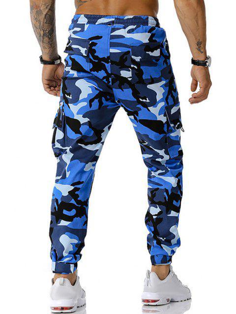 Camouflagedruck Applique Cargo Hose - Blau XXXL Mobile