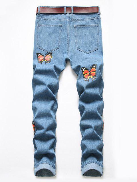 Jeans Desgastados Mariposa - Azul de Koi 36 Mobile